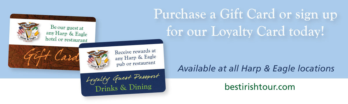 Harp and Eagle Gift Cards and Loyalty Cards